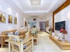 金路公司二居室-90平米-装修设计混搭风格小户型