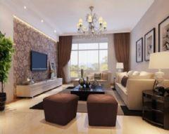 雒城一号-三居室-124平米-装修设计现代风格三居室