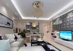 元友南城都汇-二居室-92平米-装修设计现代风格小户型