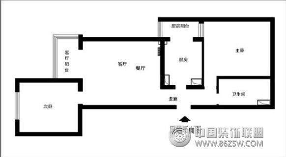 都汇 二居室 92平米 装修设计 客厅装修效果图