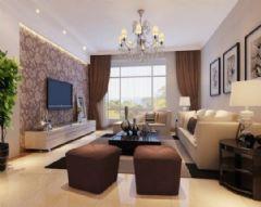 什邡凤凰城-三居室-135平米-装修设计混搭风格三居室