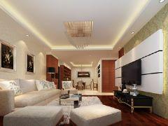 湘隆时代现代风格三居室