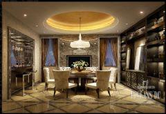 成都尚层装饰设计案例——复地御香山混搭风格别墅