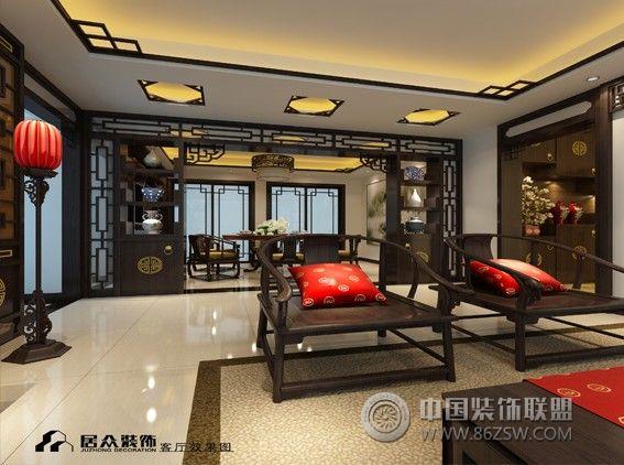 金鑫花園整套大圖展示_中式三居室裝修效果圖_八六()