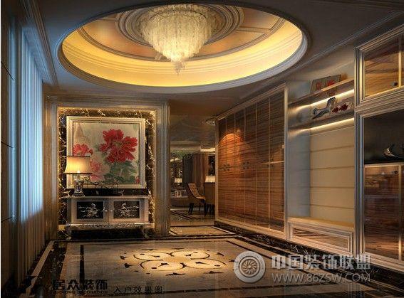 锦江豪苑欧式雅居-客厅装修效果图-八六(中国)装饰