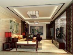广信花园中式风格三居室