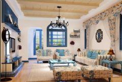 冠城国际地中海风格二居室