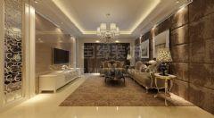 冠城国际中式风格三居室