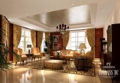 成都尚层装饰美式乡村风格设计案例——牧马山蔚蓝卡地亚美式风格别墅