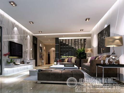 简欧跃层-客厅装修效果图-八六(中国)装饰联盟装修
