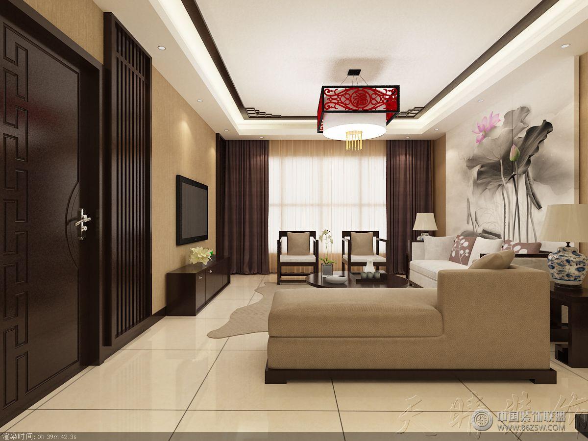 浦东花园中式客厅装修图片