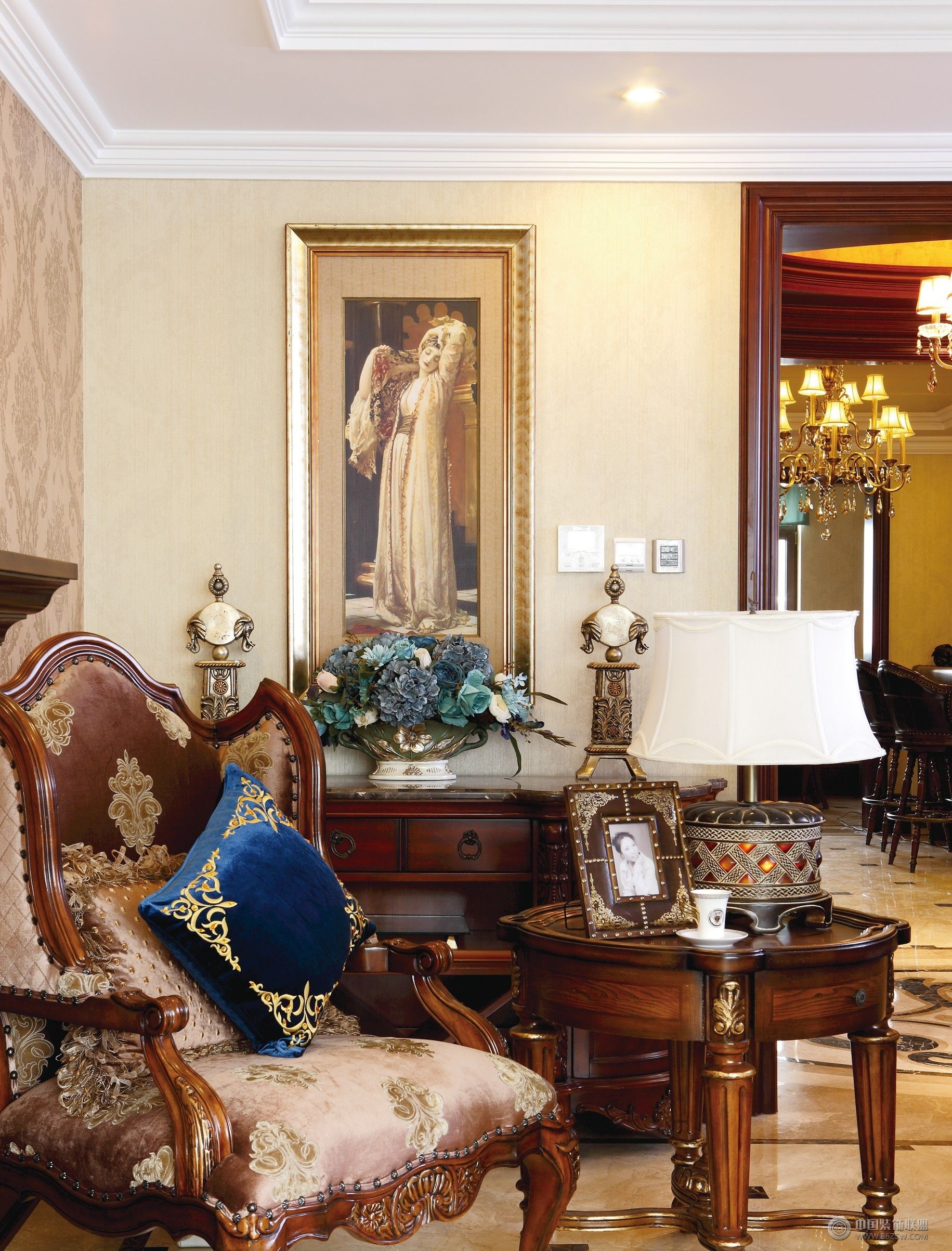 成都尚层别墅设计案例——欧式风格-客厅装修图片