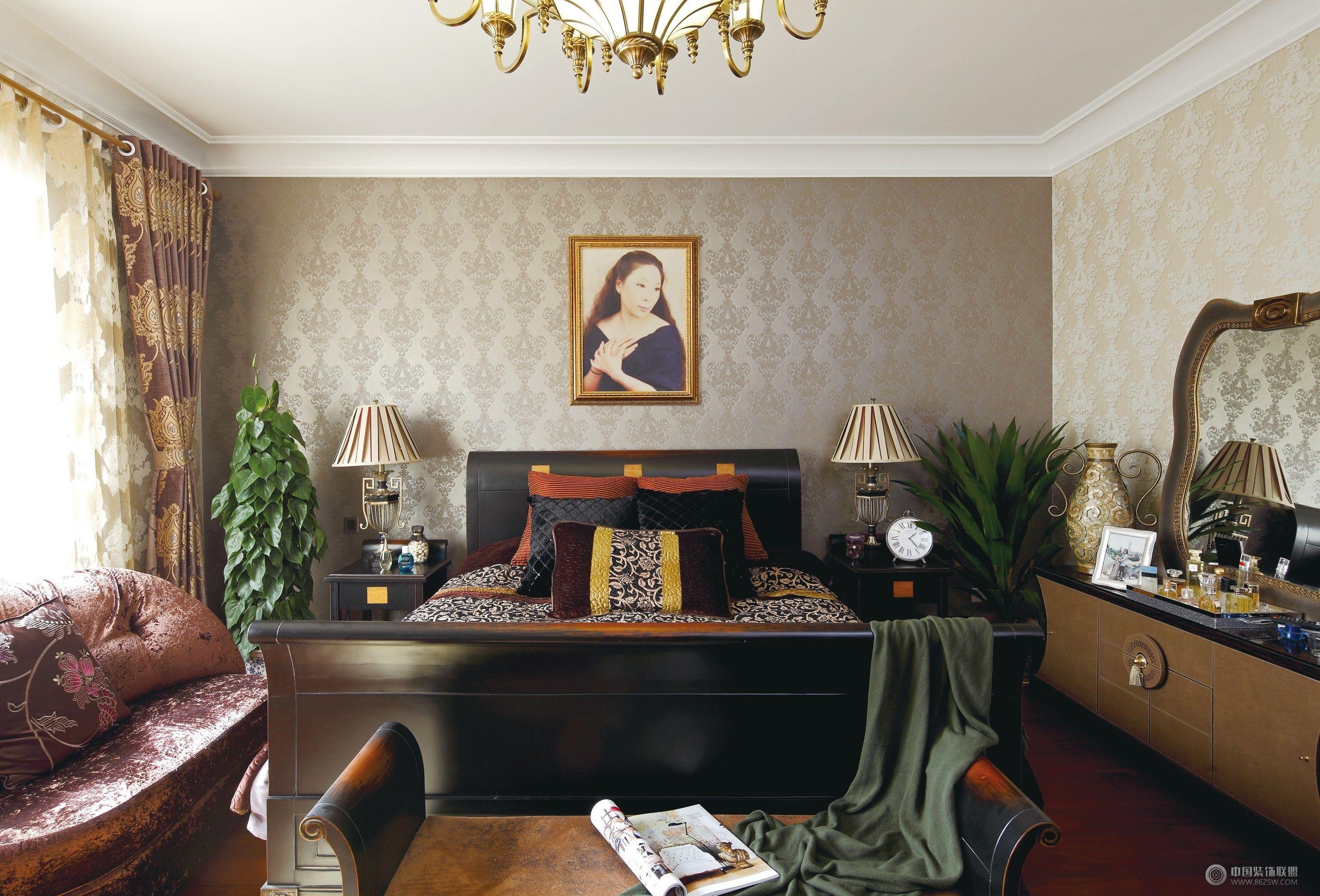成都尚层别墅设计案例——欧式风格-卧室装修图片