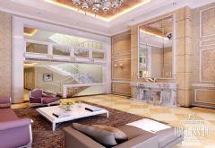 成都尚层装饰设计案例-简欧风格欧式风格别墅