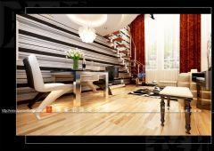 复式装修案例现代风格二居室