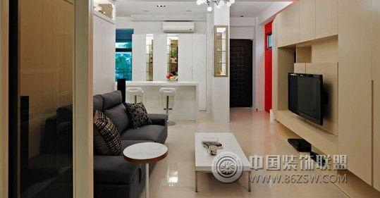 70平简约原木色超级收纳时尚家简约客厅装修图片
