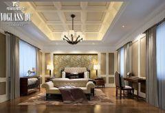 中海独墅岛 简欧风格案例简约卧室装修图片