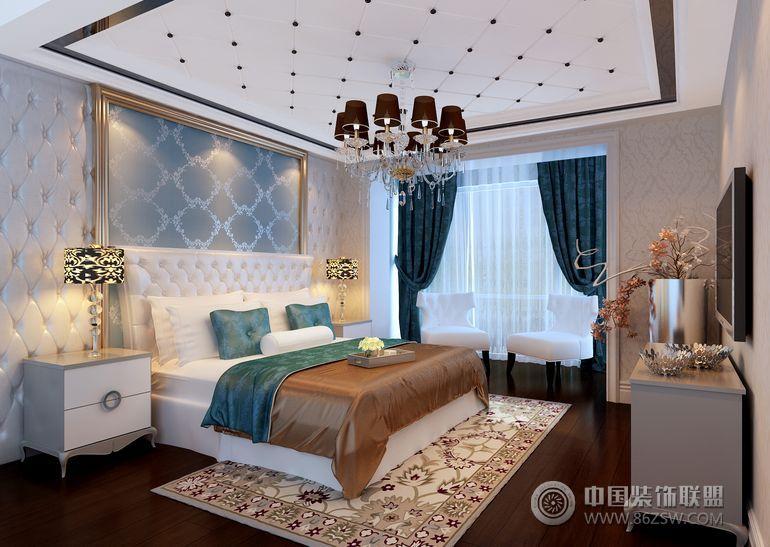 观湖国际 三居室 130平米欧式卧室装修图片