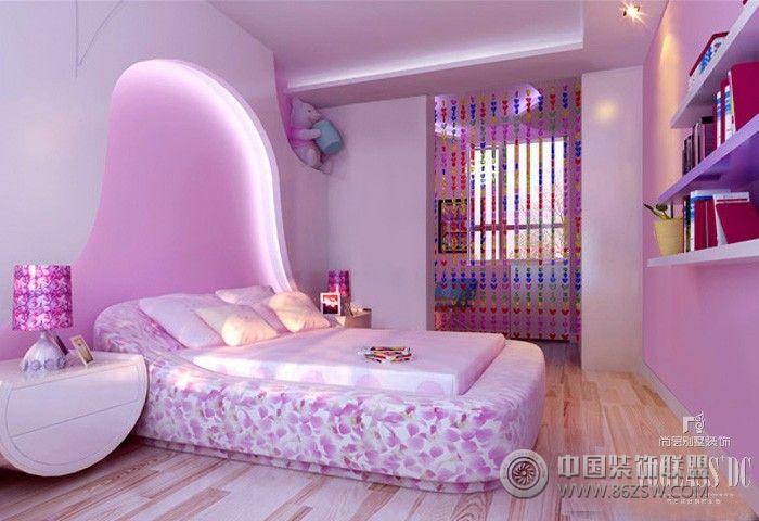 欧式别墅豪华紫色卧室