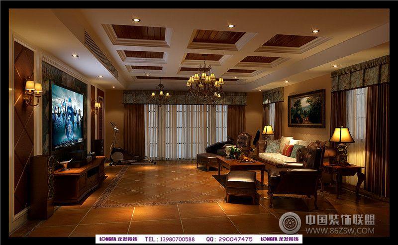 长桥郡_美式别墅装修效果图_八六(中国)装饰联盟装修图片