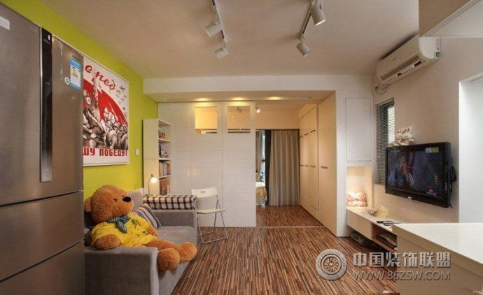 70平宜家收纳式美窝-客厅装修效果图-八六装饰网装修