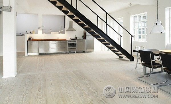 教你搭配北欧家居地板-混搭风格装修效果图-八六装饰