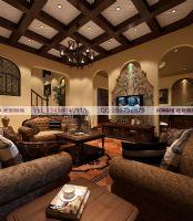 五龙山别墅装修案例美式风格别墅
