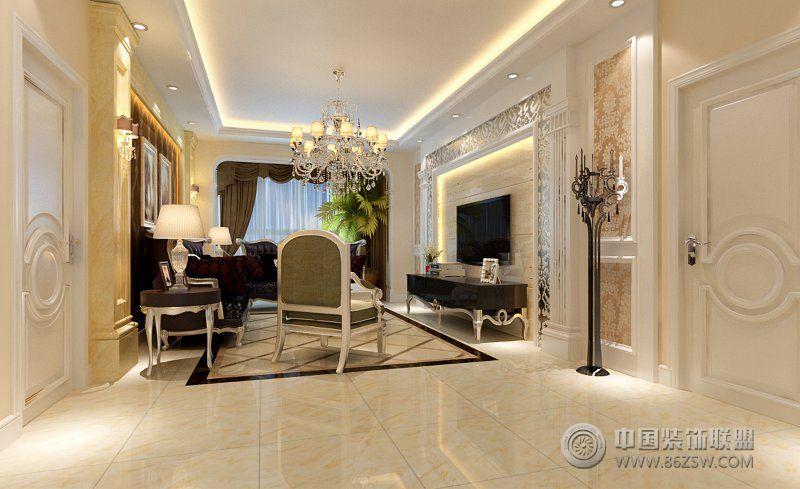135平现代欧式时尚家-客厅装修效果图-八六(中国)