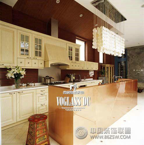 四合院美式厨房装修图片