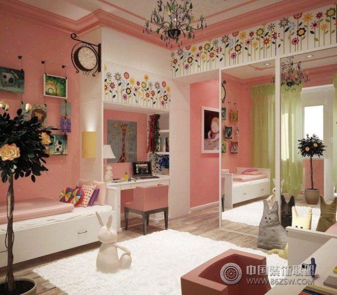 现代女孩房间设计案例 客厅装修效果图