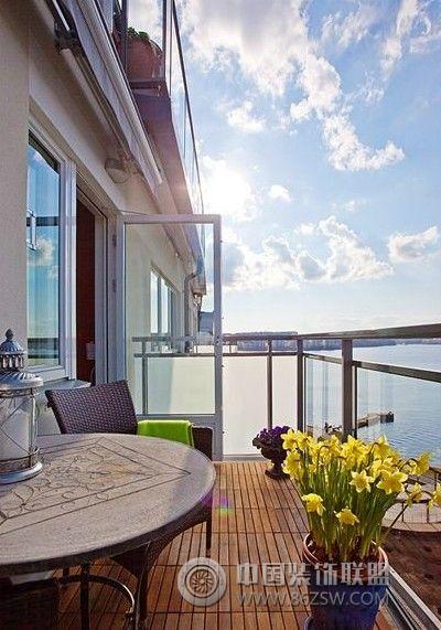 实用阳台改造方案客厅装修图片