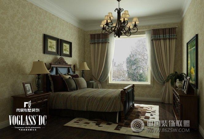 340平米别墅简约欧式效果图地中海卧室装修图片