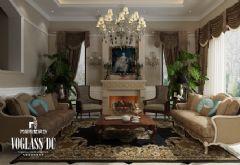 340平米别墅简约欧式效果图地中海风格别墅