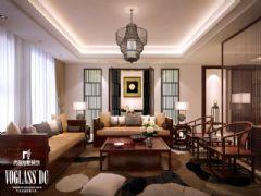 海逸长洲270平米效果图_天津尚层装饰简约风格别墅