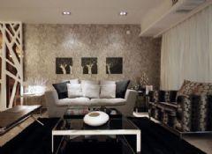 悦麒美寓装修效果图现代风格三居室