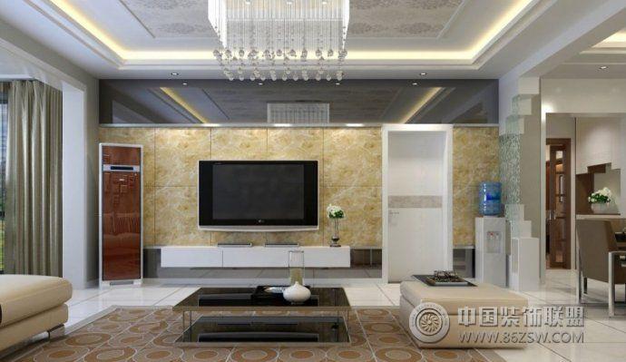 大气时尚电视背景墙装修效果图-客厅装修图片