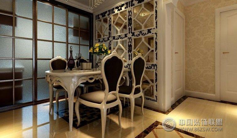 125平米欧式装修设计-餐厅装修效果图-八六(中国)
