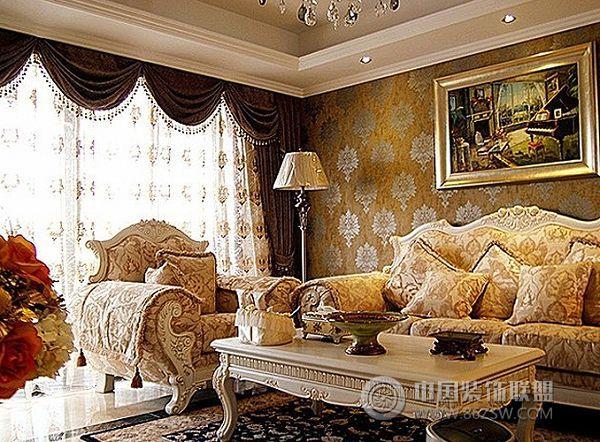 巨都桂花城装修效果图欧式客厅装修图片
