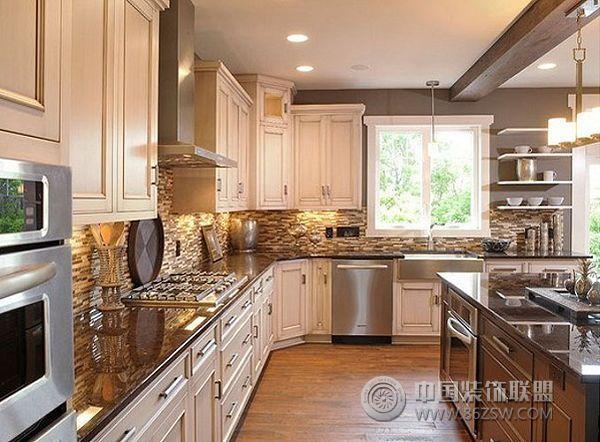 新明半岛装修效果图美式厨房装修图片