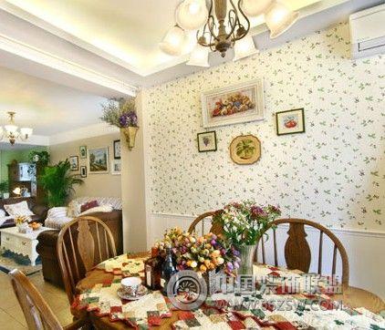 85平田园温馨美家-餐厅装修图片