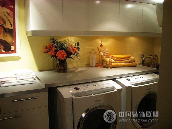 实用创意设计方案巧设洗衣间-厨房装修图片