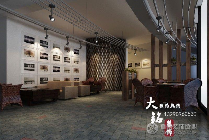 河南焦作龙源湖高档茶餐厅设计茶馆装修图片