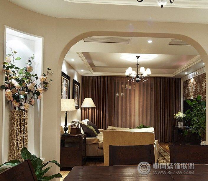 125平美式温馨家-客厅装修图片