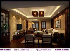 神仙树大院装修案例中式风格三居室