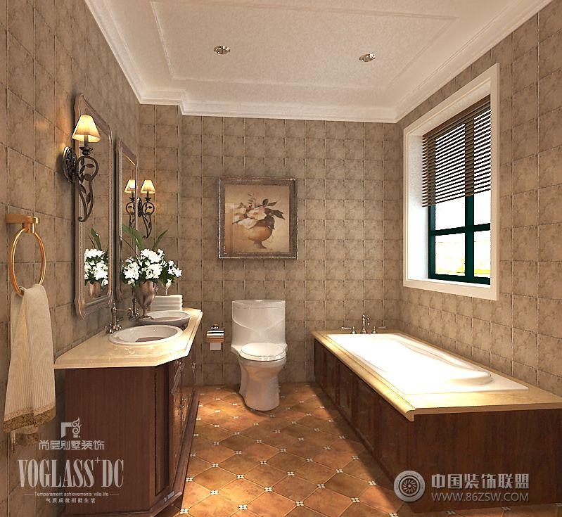 矽谷港湾别墅效果图美式卫生间装修图片