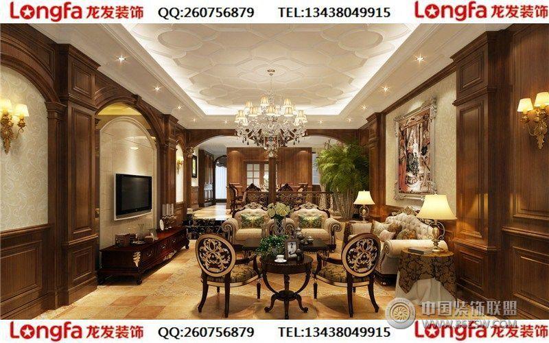 鹭湖宫欧式风格装修案例-客厅装修效果图-八六