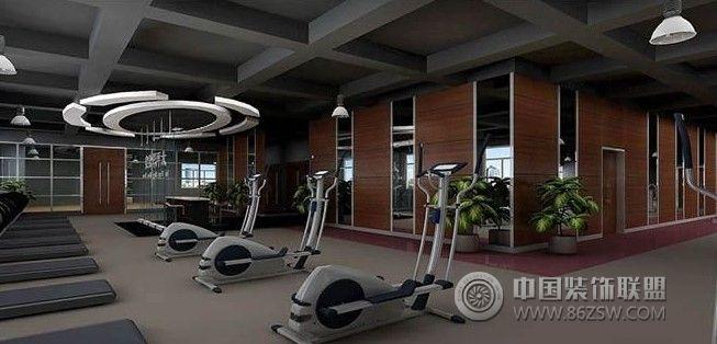 实用健身房装修案例-混搭风格装修效果图-八六装饰网