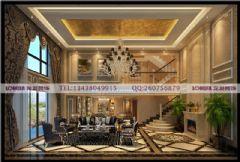 华侨城东岸320平米装修案例古典风格别墅