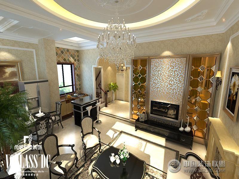 王府壹号高端公寓装修设计方案欧式客厅装修图片