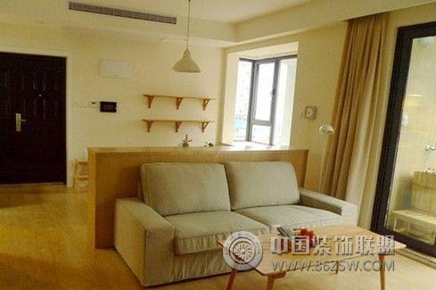 85平简约原木色温馨家-客厅装修图片